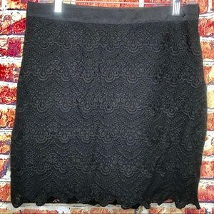 J. Crew Black Lace Mini Skirt